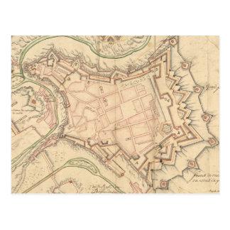 Vintage Karte von Luxemburg 1686 Postkarte