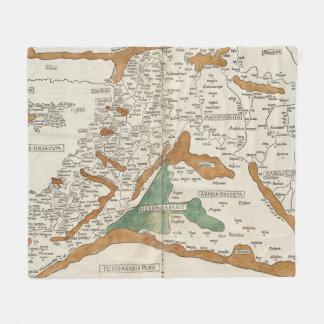 Vintage Karte von Mesopotamia (1482) Fleecedecke