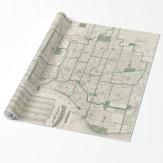 Vintage Karte von Milwaukee Wisconsin (1909) Geschenkpapier