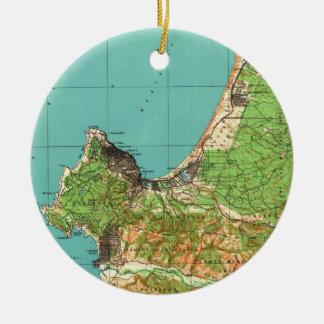 Vintage Karte von Monterey Kalifornien (1941) Keramik Ornament