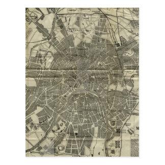 Vintage Karte von Moskau (1893)