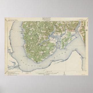 Vintage Karte von Nanjemoy Maryland (1911) Poster