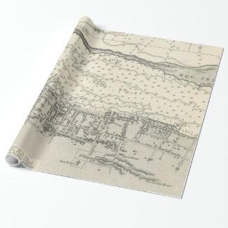Vintage Karte von Nassau Bahamas (1884) Geschenkpapier