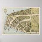 Vintage Karte von New Amsterdam (1660) Poster
