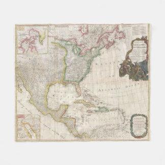 Vintage Karte von Nordamerika (1794) Fleecedecke