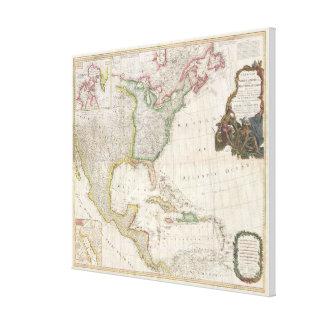 Vintage Karte von Nordamerika (1794) Leinwanddruck