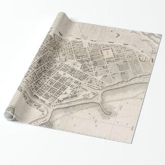 Vintage Karte von Odessa Ukraine (1827) Geschenkpapier