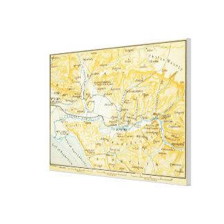 Vintage Karte von Olympia Griechenland (1894) Leinwanddruck