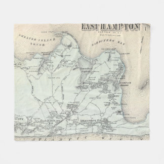 Vintage Karte von Osthampton New York (1873) Fleecedecke