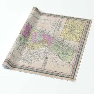 Vintage Karte von Palästina (1853) Geschenkpapier