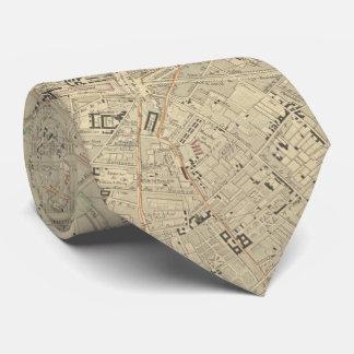 Vintage Karte von Paris Frankreich (1843) Bedruckte Krawatte