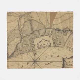 Vintage Karte von Pensacola Florida (1778) Fleecedecke