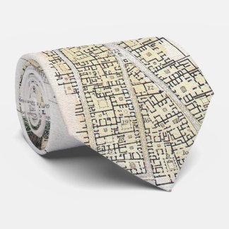Vintage Karte von Pompeji Italien (1832) Krawatte