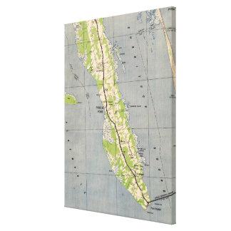 Vintage Karte von Powells Punkt Nord-Carolina Leinwanddruck