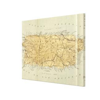 Vintage Karte von Puerto Rico (1898) Leinwanddruck