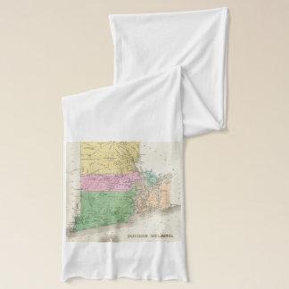 Vintage Karte von Rhode Island (1827) Schal