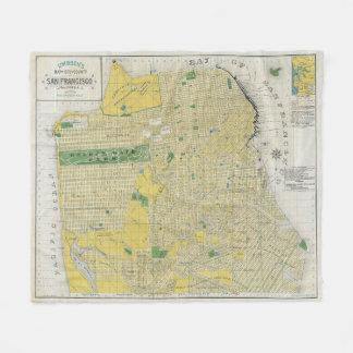 Vintage Karte von San Francisco CA (1898) Fleecedecke