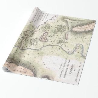 Vintage Karte von Sparta Griechenland (1783) Geschenkpapier