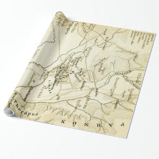 Vintage Karte von Sparta Griechenland (1894) Geschenkpapier