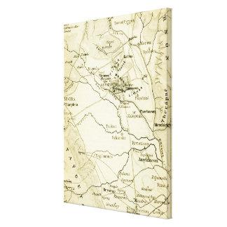 Vintage Karte von Sparta Griechenland (1894) Leinwanddruck
