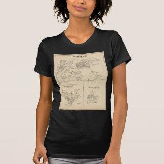 Vintage Karte von Spofford und von Chesterfield NH T-Shirt