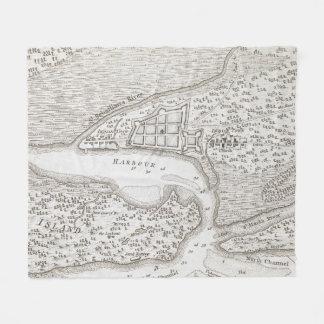 Vintage Karte von St Augustine Florida (1763) Fleecedecke