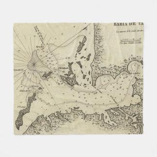 Vintage Karte von Tampa Florida (1809) Fleecedecke