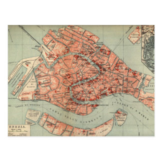 Vintage Karte von Venedig Italien (1920)