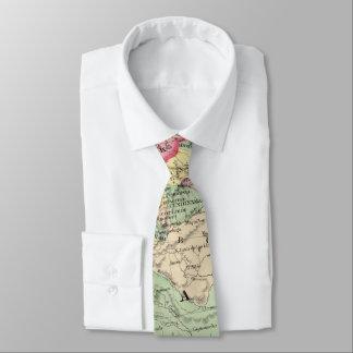 Vintage Karte von Venezuela, Ecuador, Kolumbien Bedruckte Krawatten
