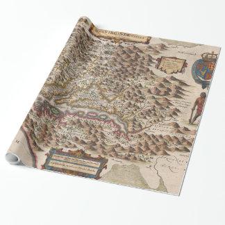 Vintage Karte von Virginia (1630) Geschenkpapier