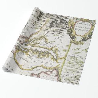 Vintage Karte von Virginia und von Maryland (1796) Geschenkpapier
