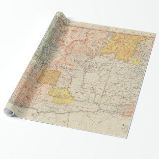 Vintage Karte von Washington-Staat (1897) Geschenkpapier