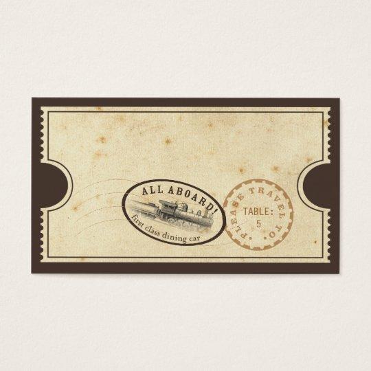 Vintage Karte - Zug-Eskorte-Karte