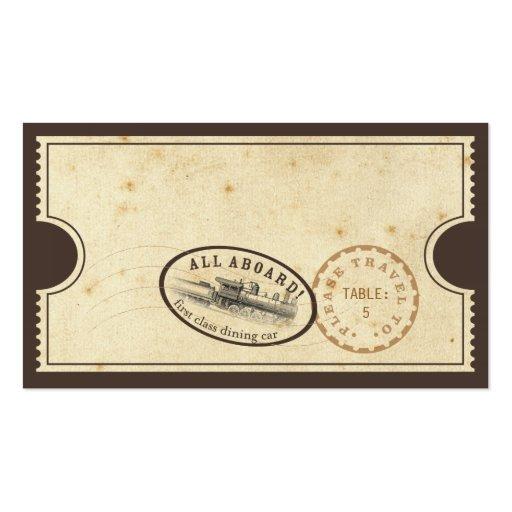 Vintage Karte - Zug-Eskorte-Karte Visitenkarten Vorlagen