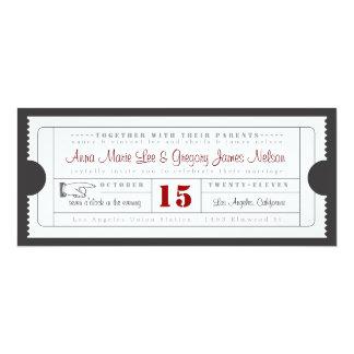 Vintage Karten-Einladung 10,2 X 23,5 Cm Einladungskarte