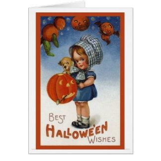 Vintage Karten-Entwurf-Beste Halloween-Wünsche Karte