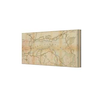 Vintage Karten-Leinwand See-angenehme New York Leinwanddruck