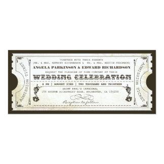 Vintage Karteneinladungen der schönen Hochzeit 10,2 X 23,5 Cm Einladungskarte