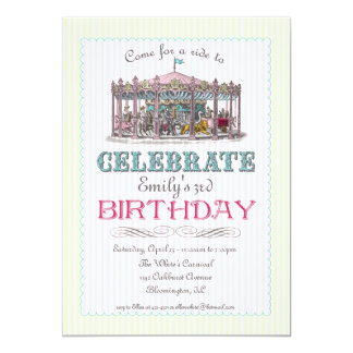 Vintage Karussell-Party Einladung
