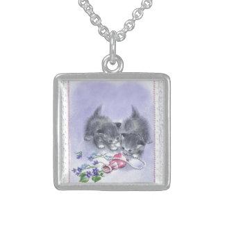 Vintage Kätzchen-antike Perlen-Andenken-Halskette