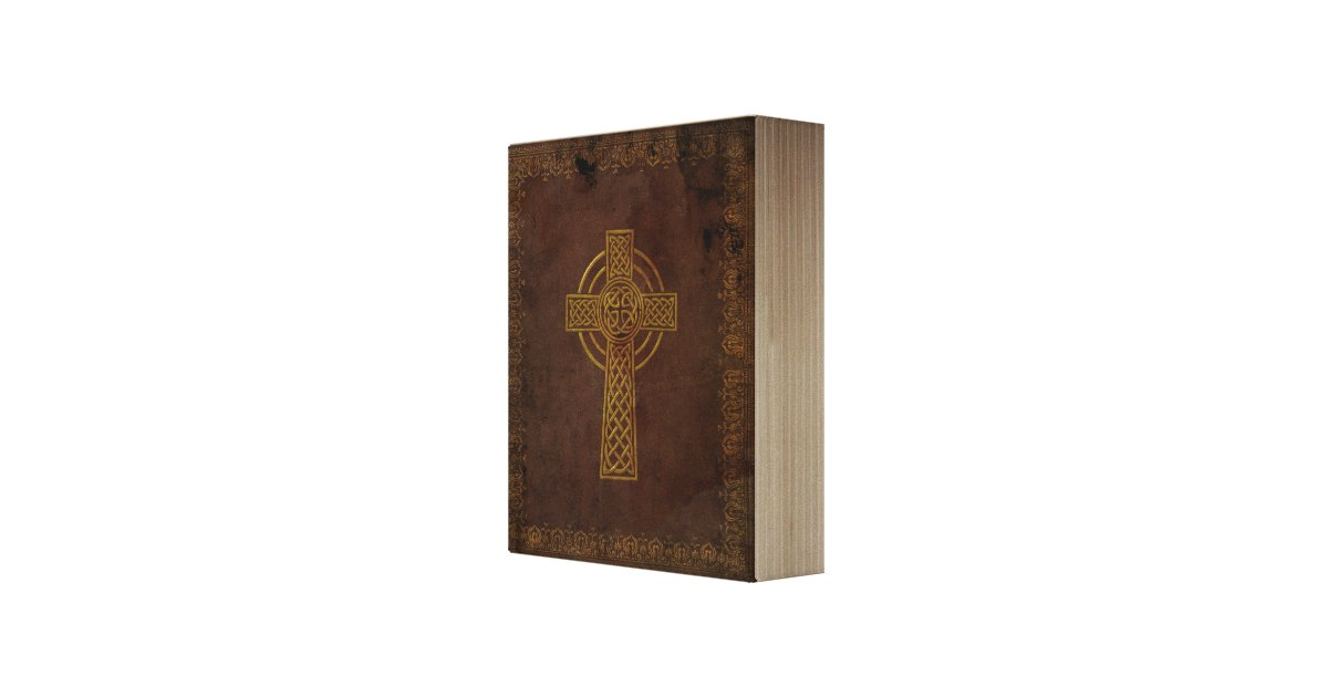 vintage keltische bibel replik auf leinwand leinwand druck zazzle. Black Bedroom Furniture Sets. Home Design Ideas