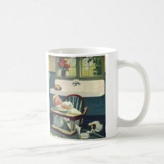 Vintage Kinder, Baby-Schlafenhighchair-Küche Kaffeetasse