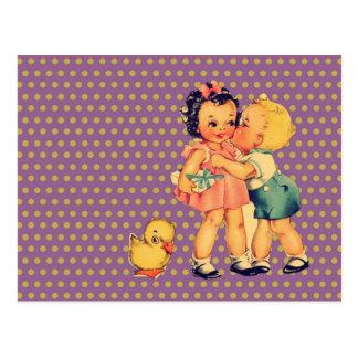 Vintage Kinder der Kunst niedliche retro Kindersch Postkarten