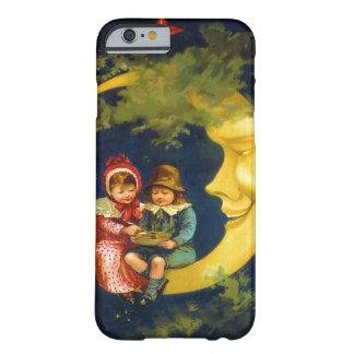 Vintage Kinder, die auf dem sichelförmigen Mond Barely There iPhone 6 Hülle