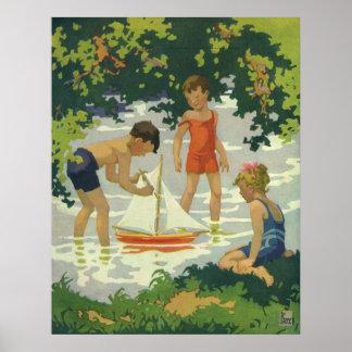 Vintage Kinder, die Poster