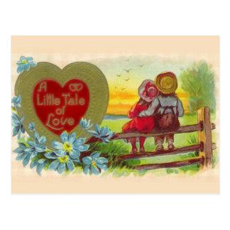 Vintage Kinder in LiebeValentine Postacard Postkarten