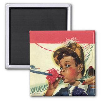 Vintage Kinder, Mädchen-Geräusch-Hersteller, Quadratischer Magnet