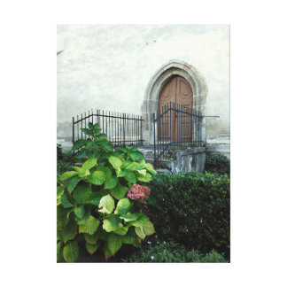 Vintage Kirchen-Tür Leinwanddruck