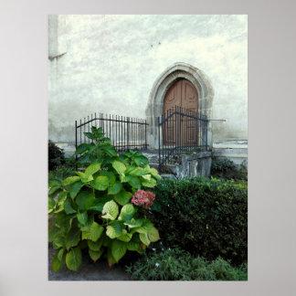 Vintage Kirchen-Tür Poster