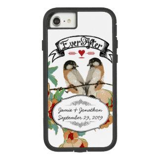 Vintage Kirschblüten-Liebe-Vogel-Pfirsich-Minze Case-Mate Tough Extreme iPhone 8/7 Hülle